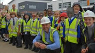Hundreds of children from MAPS School get an education in construction