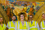 Historic murals dating back to 1928 in Nottingham's Exchange Arcade restored to their former glory