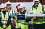 Pupils bury time capsule to celebrate the building of new Lincoln academy