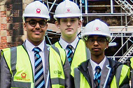 Career-driven pupils get a glimpse into world of construction with a tour of Nottingham Castle restoration site