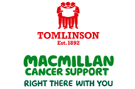 HUNDREDS RAISED FOR MACMILLAN BY G F TOMLINSON