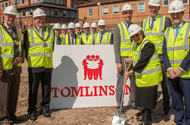 Ground-breaking marks major progress on Grantham's new cinema site