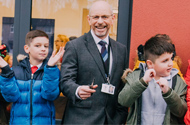 Derby primary school pupils celebrate completion of new teaching building and garden