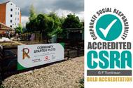 G F Tomlinson secures Gold CSR Accreditation